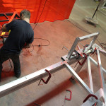Aluminum tubing provides a lightweight but rigid frame. (courtesy Situ Fabrication)