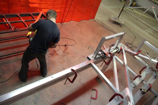 Aluminum tubing provides a lightweight but rigid frame. (courtesy Situ Fabrication)