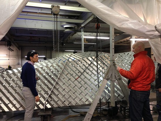 Amuneal fabricated the stainless steel sheets in their Philadelphia facility. (Marc LaRosa)