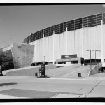 Perspective of east elevation and large chiller, looking southwest. (Jet Lowe, Courtesy Library of Congress)