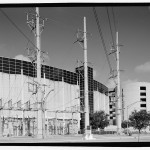 Stepdown transformers on east side. (Jet Lowe, Courtesy Library of Congress)