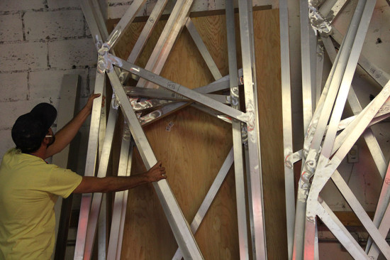 Each of the panels measures 12 feet in height. (courtesy Situ Fabrication)