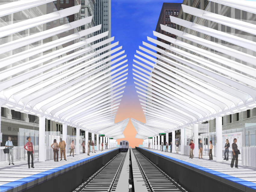 Renderings show Chicago's first new Loop 'L' stop since 1997. (exp / CTA)