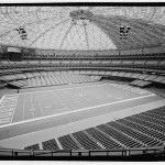 Interior perspective looking south-southwest, showing seating in football configuration. Field seating rotates to accommodate baseball. (Jet Lowe, Courtesy Library of Congress)