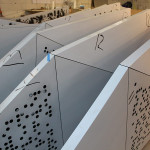 Panels await installation in Situ's Brooklyn studio. (courtesy Situ Fabrication)