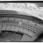 Dome roof truss midway up catwalk to cupola at crown of dome. (Jet Lowe, Courtesy Library of Congress)