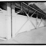 Detail of lateral load bracing system at ground level. (Jet Lowe, Courtesy Library of Congress)