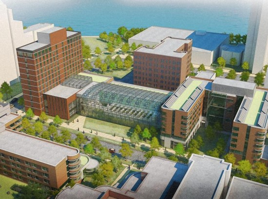 Loyola University  Chicago Center for Sustainable Urban Living. Climate Concepts: Transsolar, Architects: Solomon Cordwell Buenz (Courtesy SCB)