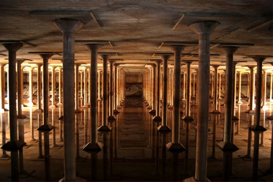 "The ""Cistern,"" constructed in 1927, was Houston's first drinking water reservoir. (Courtesy Buffalo Bayou Partnership)"