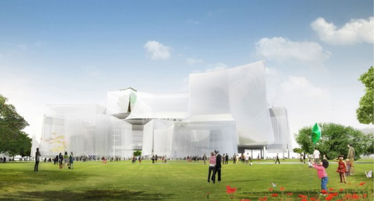 SANAA's winning Taichung Cultural Center entry (SANAA)