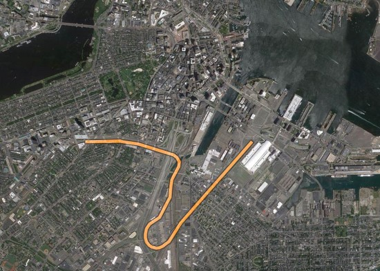 Proposed route of Track 61. (Courtesy Google / Montage by AN)