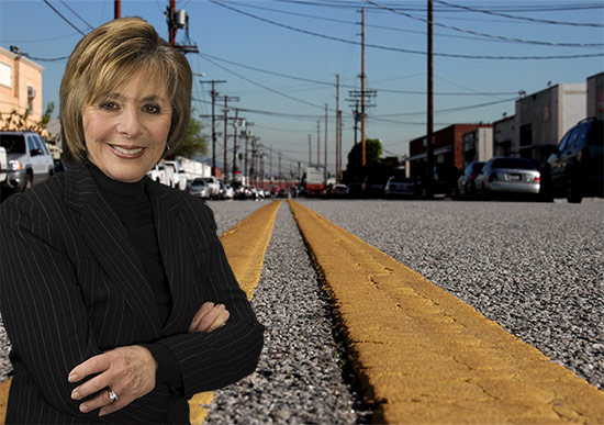 Senator Barbara Boxer. (Street photo by Isma Monfort Vialcanet / Montage by AN)