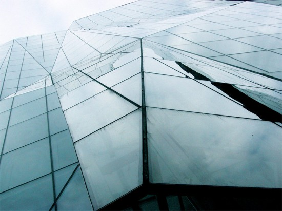 The faceted facade of the Spertus Institute in Chicago. (Matt & Megan / Flickr)