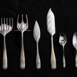 Greg Lynn employed direct metal laser sintering on steel and brass alloy for 2004-2007's Flatware Prototypes. (Greg Lynn)