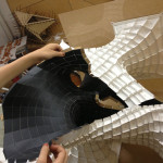 Since the design was modeled in paper, four sided shapes were fabricated. (courtesy SOFTlab)