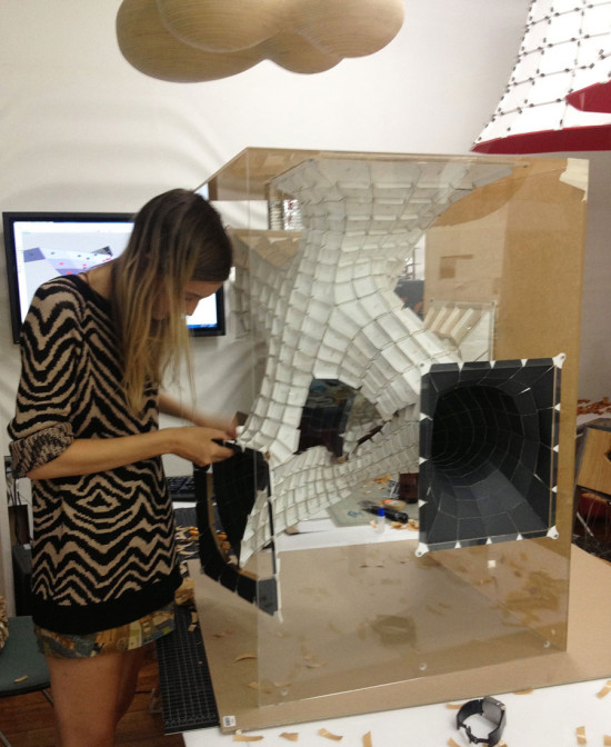 SOFTlab designers fabricated their model on an in-house laser cutter. (courtesy SOFTlab)