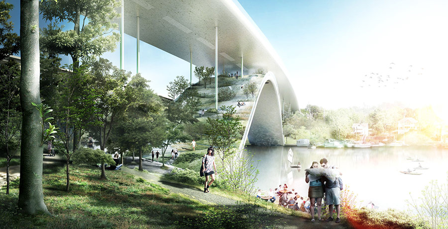 Bjarke Ingels Reinvents The Bridge As A Mountain Of