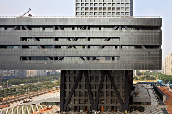 OMA's Shenzhen Stock Exchange Building. (Philippe Ruault / Courtesy OMA)