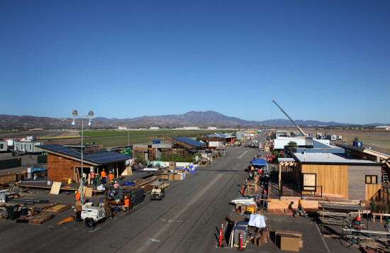 Solar Decathlon Village in Assembly (U.S. Department of Energy)
