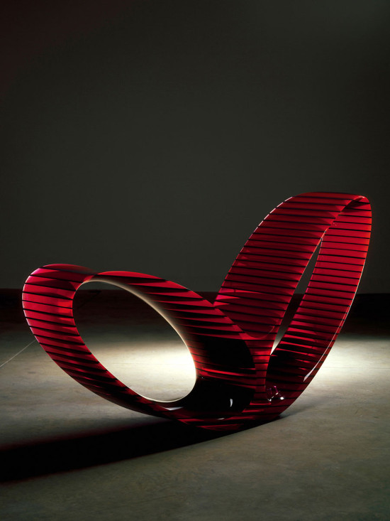 Oh Void 1 by Ron Arad (2006) is made from acrylic. (Erik and Petra Hesmerg)