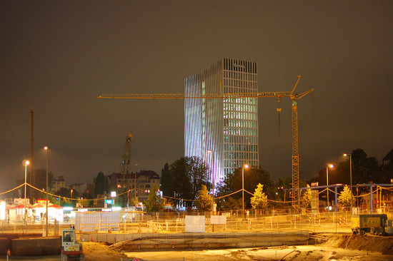 Tour Total is the first completed building on a 40-acre urban tract of land in Berlin. (Ina Reinecke)