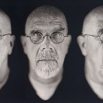 Self-Portrait/Five Part by Chuck Close (2009) is a digitally woven jacquard tapestry. (Magnolia Editions)
