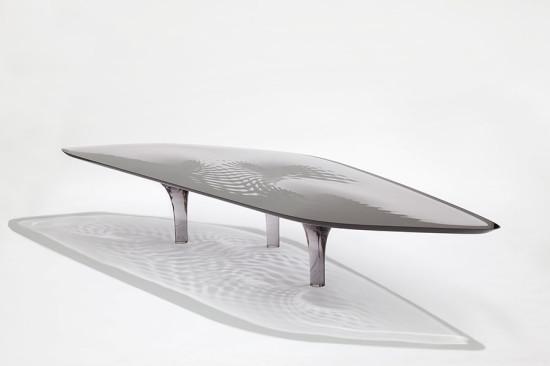 "The Liquid Glacial ""Smoke"" Coffee Table by Zaha Hadid and Patrik Schumacher (Jacapo Spilimbergo)"