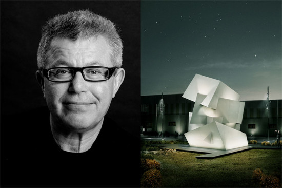 Left: Daniel Libeskind (Ilan Besor); Right: Off the Wall (courtesy Cosentino)
