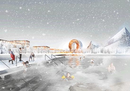 """An """"industrial leisure park"""" in BIG's Loop City. (BIG)"""