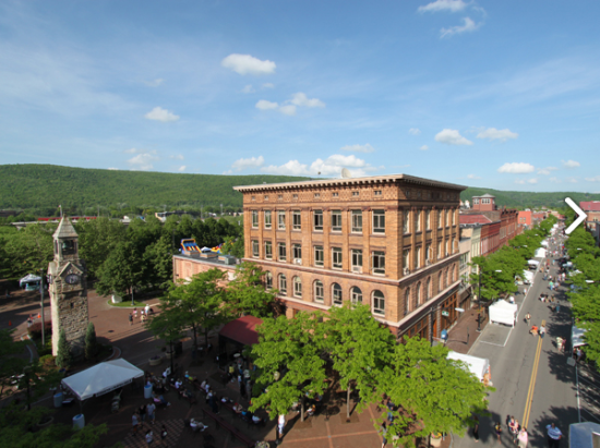 Market Street in Corning, New York is considered a Great Street by the American Planning Association (Brad Zehr)