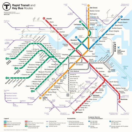 Winner of New Perspectives Map Re-design Competition by Mikheil Kvrivishvili (Courtesy of MBTA/Mikheil Kvrivishvili)
