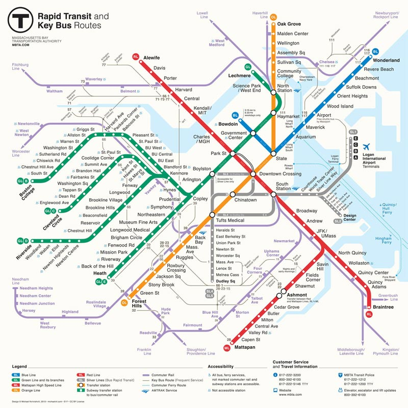 boston unveils new map of the t subway system archpaper