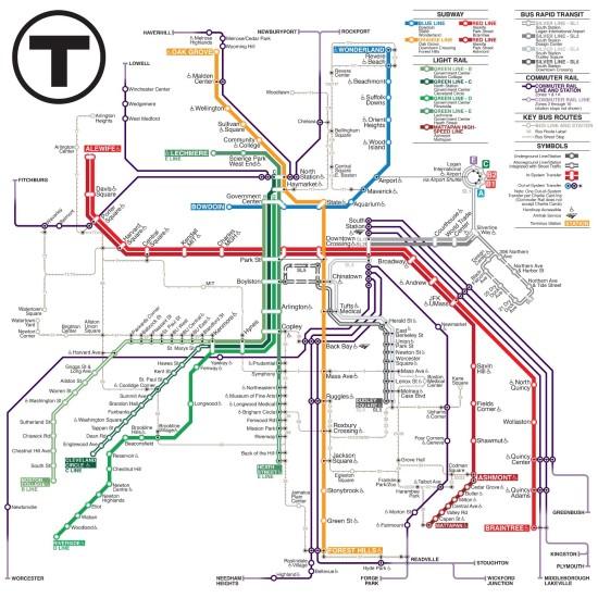 Finalist Kat Lawrence's map (Courtesy of MBTA/Kat Lawrence )
