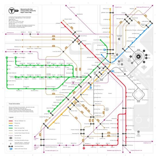 Finalist Zemien Lee's map (Courtesy of MBTA/Zemien Lee)