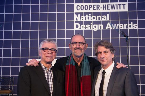 Left to right: Rick Scofidio, Thom Mayne, and David Rockwell. (Courtesy National Design Awards)