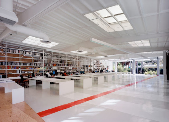 Lehrer Architects' studio space, one of many offices on Hyperion Avenue in Silver Lake (DeLaB)