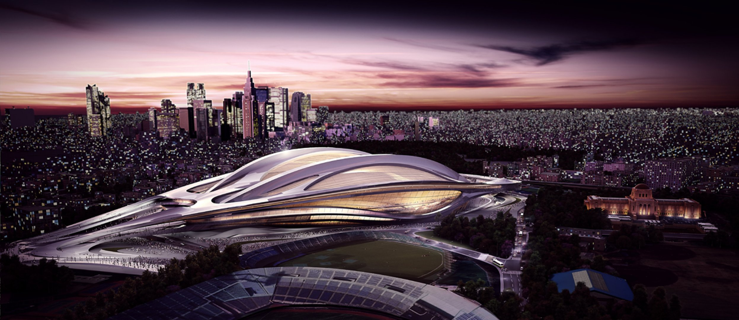 Proposed Stadium for Tokyo Olympic Games 2020 (Courtesy Zaha Hadid Architects