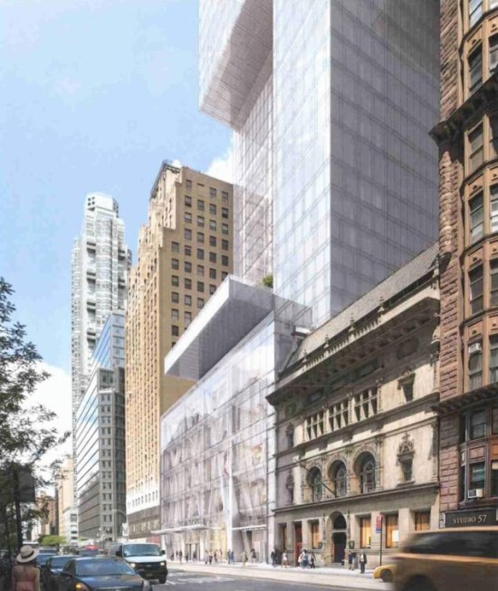 A first peek at Adrian Smith + Gordon Gill's New York City tower. (Courtesy CB 5 / AS+GG)