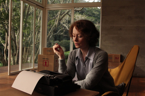 "MIRANDA OTTO as Elizabeth Bishop in the movie ""Reaching for the Moon"" (Lisa Graham / Courtesy L.C. Barreto)"