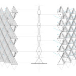 """Some geometric moves on the screen can be difficult to fabricate, so to remove those you get subtle twisting in the elevation,"" Romano said. (courtesy Nicholas Bruscia and Christpher Romano)"