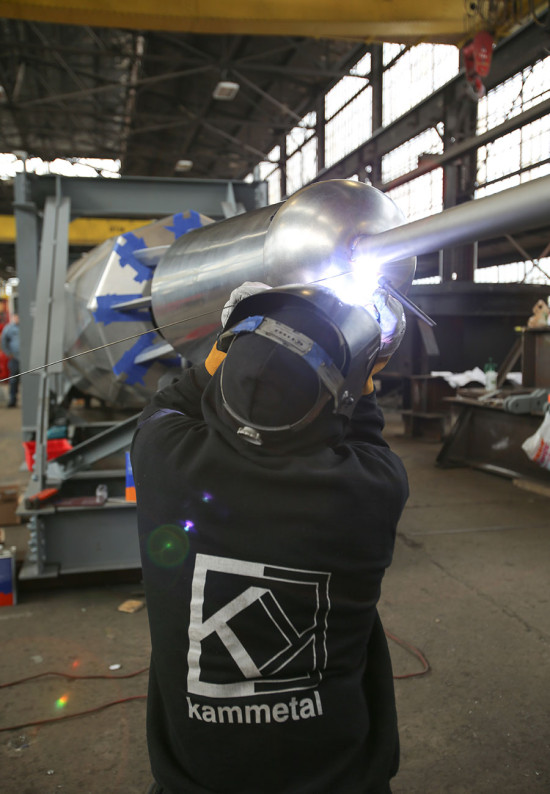 Welding was executed at DCM Erectors' New Jersey facility. (courtesy Kammetal)
