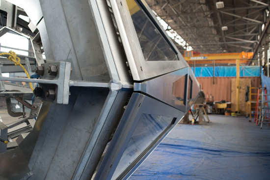 Panels are bolted to a structural steel frame. (courtesy Kammetal)