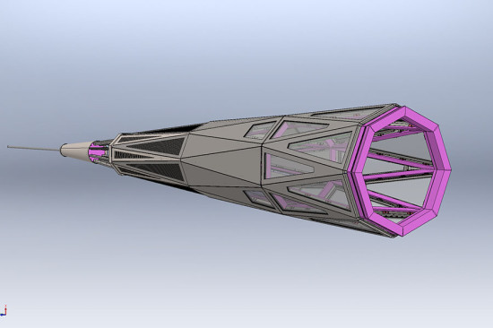 Kammetal modeled the beacon in SolidWorks. (courtesy Kammetal)