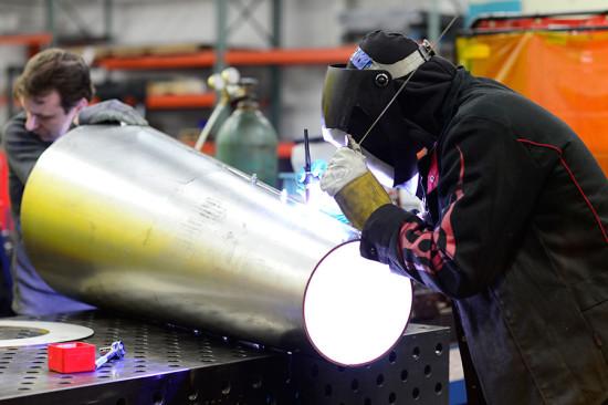 Kammetal welded panels together off-site. (courtesy Kammetal)