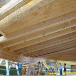 Joists are bolted into the panels. (courtesy StructureCraft)