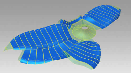 Parametric models were made in Autodesk Inventor. (courtesy StructureCraft)
