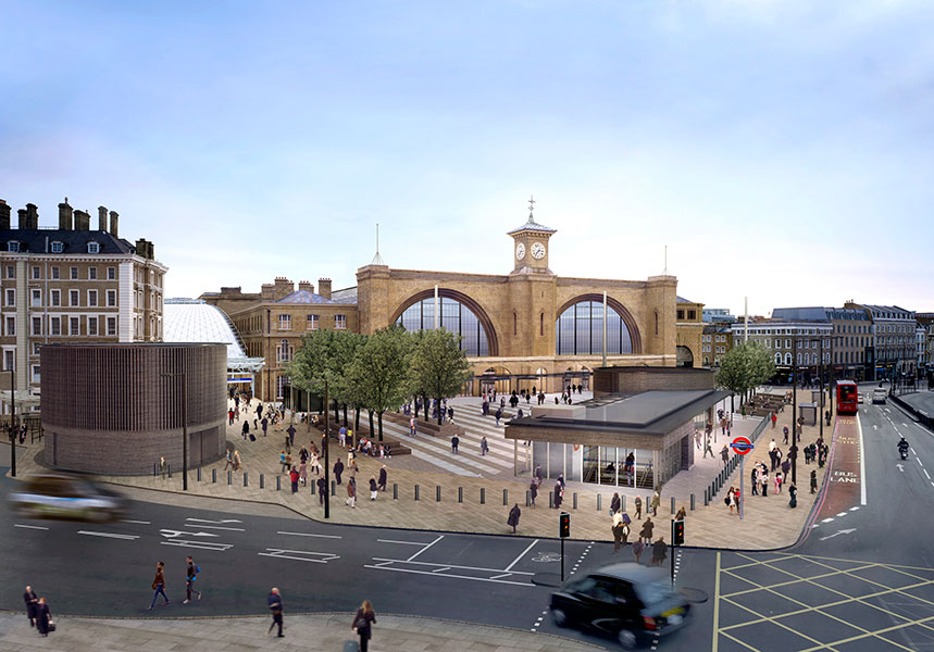 Kings Cross Square (courtesy Arup)