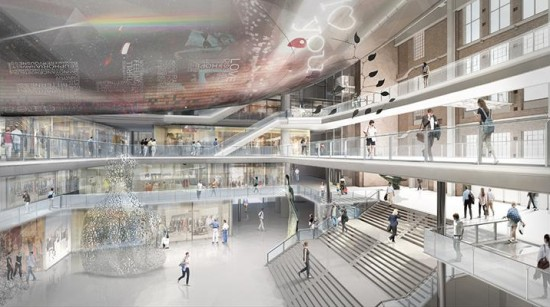 Proposed View from North Entrance. (Courtesy Wilkinson Eyre)