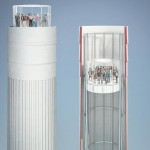 Restored Chimneys as Glass Viewing Elevators Offer London Views. (Courtesy Wilkinson Eyre)