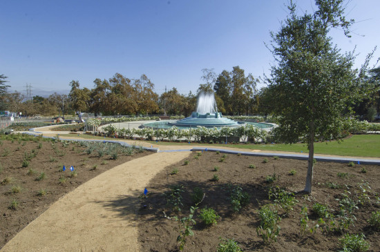 THE LOS ANGELES AQUEDUCT CENTENNIAL GARDEN IN GRIFFITH PARK WAS DEDICATED ON OCTOBER 23 (LOS ANGELES DEPARTMENT OF WATER AND POWER)